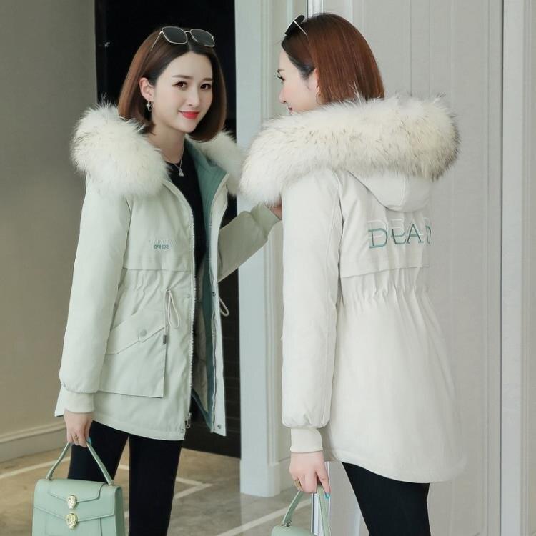 派克服2020年新款韓版大毛領棉服女冬季羽絨棉襖外套寬鬆棉衣短款
