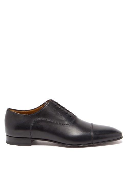 Christian Louboutin - Greggo Leather Derby Shoes - Mens - Black