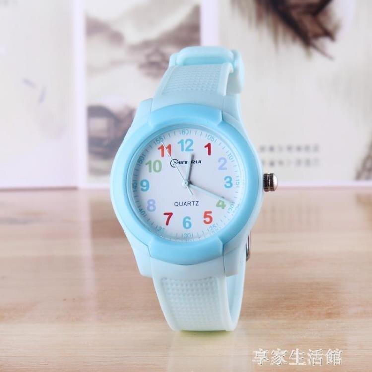 兒童電子手錶指針式男孩女孩學生石英錶小學生女童男童電子錶防水  全館免運