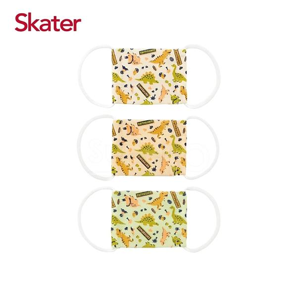 Skater 幼兒紗布口罩(3枚/包)-恐龍(baby適用)[衛立兒生活館]