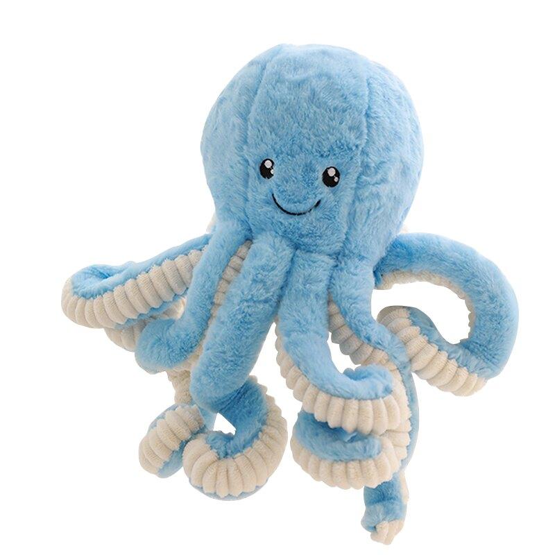 可愛章魚毛絨玩具公仔柔軟寶寶睡覺安撫玩具