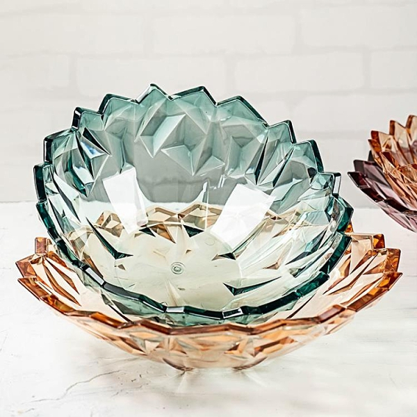日式創意塑膠水果盤子果籃果鬥碗客家用廳時尚茶幾網紅果盆糖果盤 【母親節禮物】