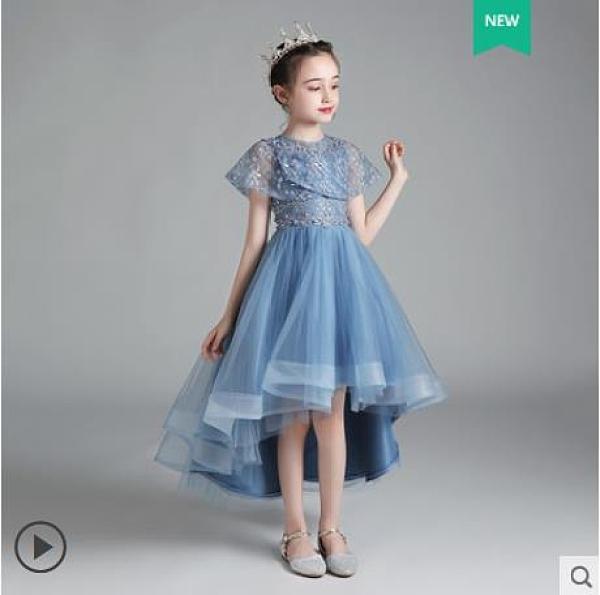 女童洋氣公主裙花童婚紗兒童高端蓬蓬鋼琴演出服小女孩走秀晚禮服 3C數位百貨