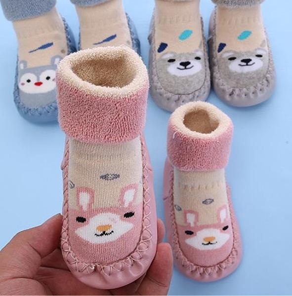 學步鞋 嬰兒鞋襪0-1歲軟底學步男女寶寶地板襪子鞋防滑幼兒厚款秋冬保暖 維多原創