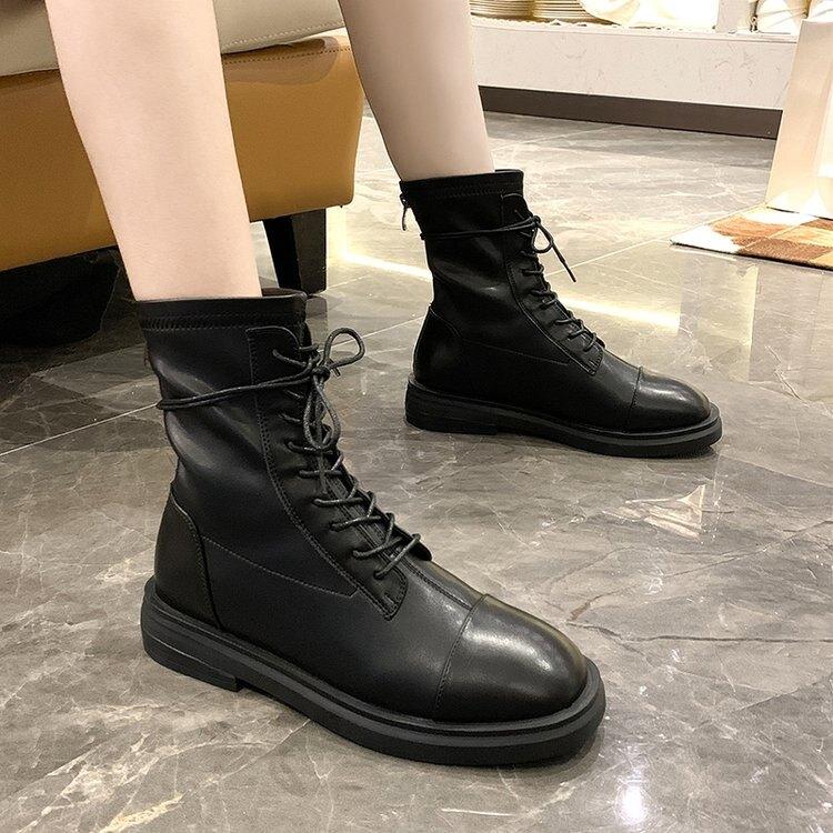 馬丁靴女ins潮2020新款網紅英倫風黑色薄款透氣百搭顯腳小短靴子