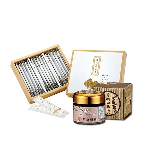 【南紡購物中心】【梅的生活 PlumLife】 梅精蜂蜜酵素飲(30條/盒)+梅精膏 (70g/罐)