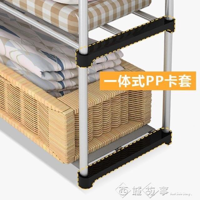 【現貨】單雙人簡易布衣櫃鋼管加厚加固鋼架布藝掛衣櫥宿舍臥室衣服收納櫃 快速出貨