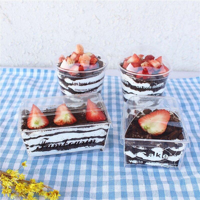 法語字母木糠杯 烘焙慕斯蛋糕布丁冰激凌提拉米蘇杯 20只送蓋勺