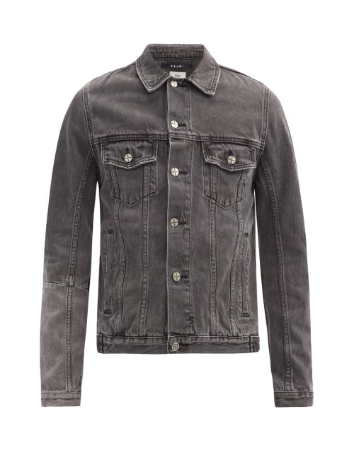 Ksubi - Dynamo Logo-stitched Denim Jacket - Mens - Black
