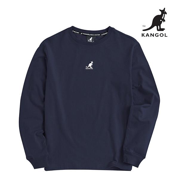 KANGOL 袋鼠 - 中間刺繡小袋鼠長T 丈青【60551027】