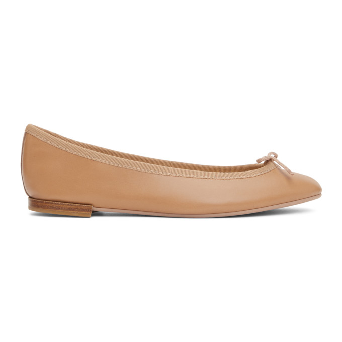 Repetto 驼色 Lili 芭蕾鞋