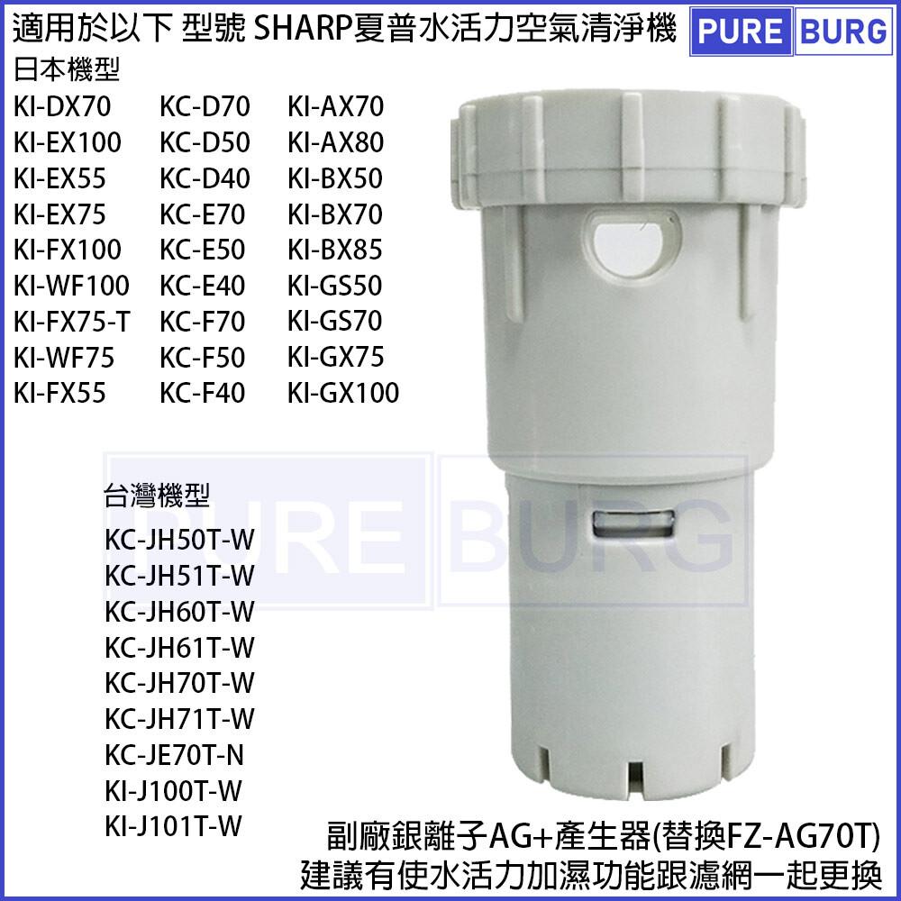 適用sharp水活力空氣清淨機ag+銀離子產生器濾心kc-jh50t  jh60t jh70t