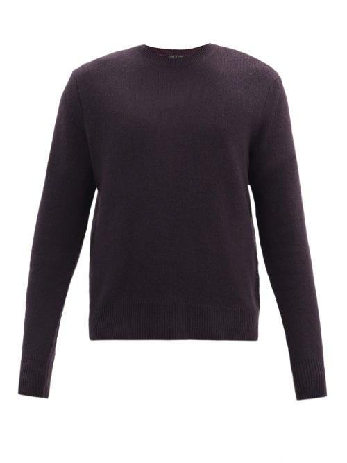Rag & Bone - Haldon Cashmere Sweater - Mens - Dark Purple