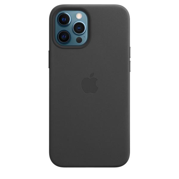 iPhone 12 Pro Max MagSafe 皮革保護殼 - 黑色
