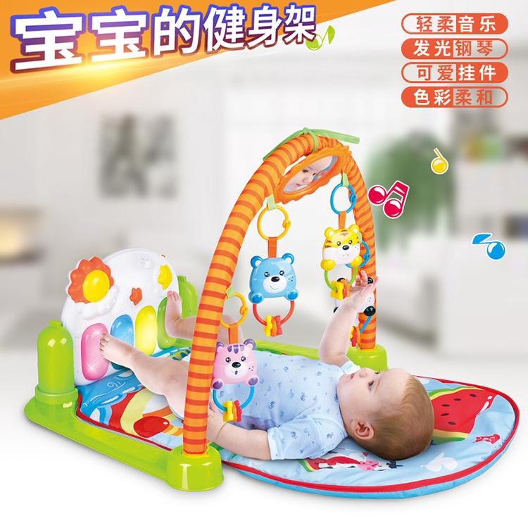 兒童益智健身架遊戲毯音樂健身架玩具 0-1歲 寶寶男孩女孩鋼琴玩具