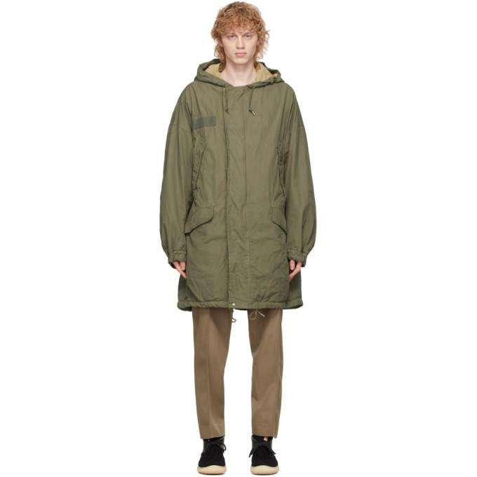 Visvim 绿色 Patterson 大衣