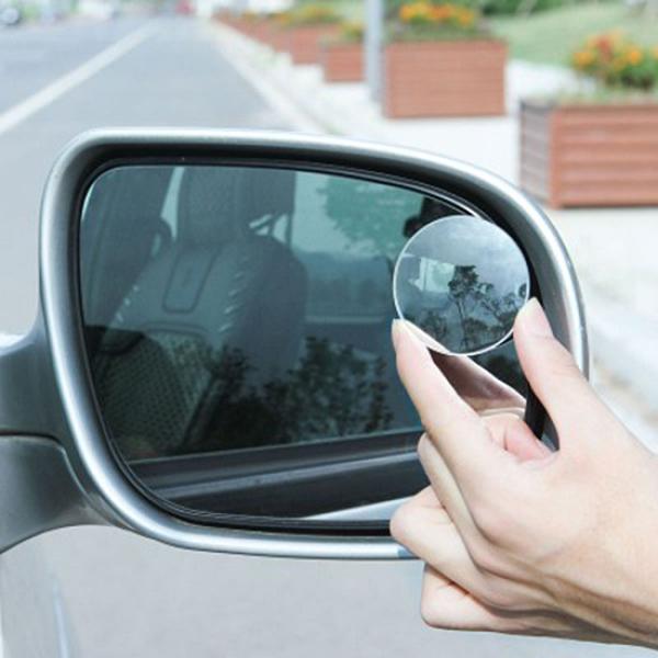車用可調輔助小圓鏡(2入) 360度 無邊 可調 後視鏡 倒車 盲點 高清【F058】color me