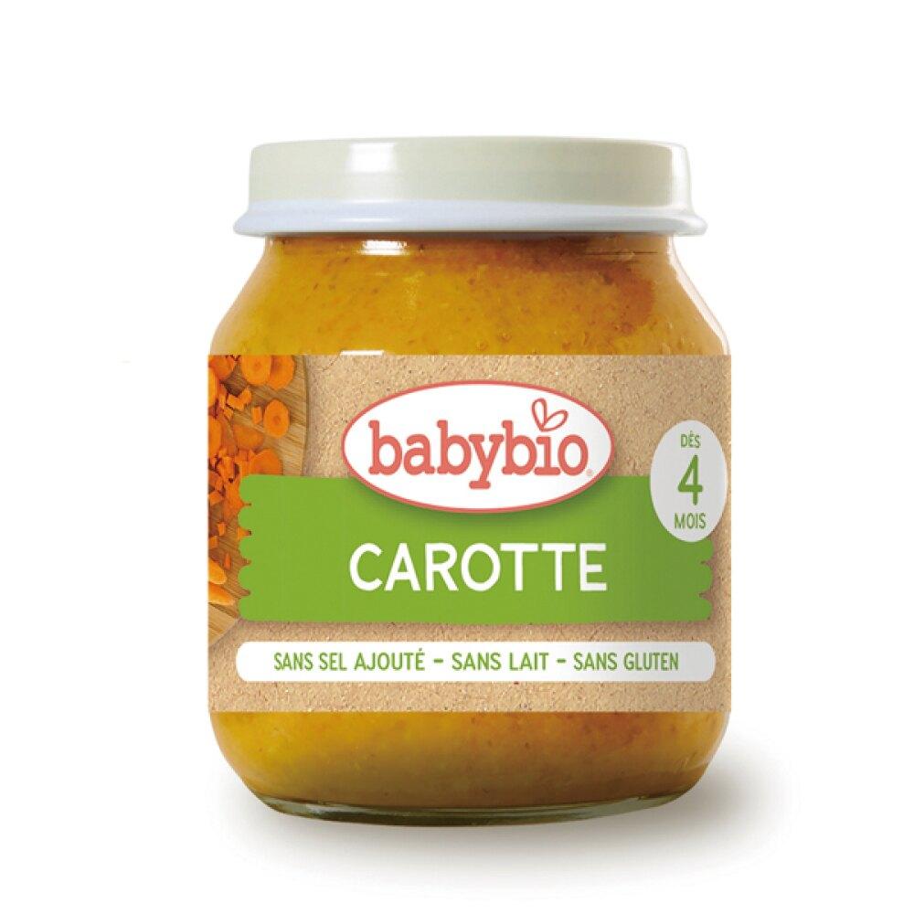 法國 倍優 Babybio 生機紅蘿蔔蔬菜泥 (生機嬰幼兒副食品) 4m+