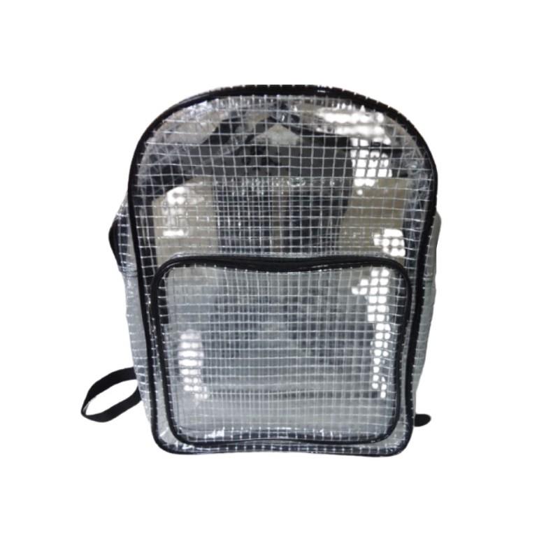 無塵背包 網格款 40*30*12 後背包 無塵袋 防靜電 透明PVC背包 無塵包