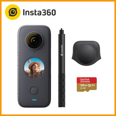 Insta360 ONE X2 全景相機 (東城代理商公司貨) 贈128G卡+隱形自拍棒+鏡頭保護套