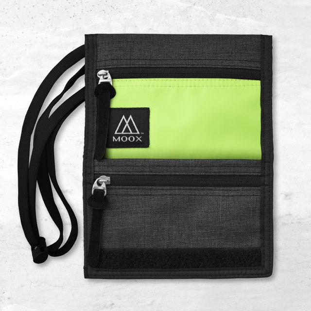 【穆克斯MOOX】 O9GB 輕量旅行收納包(螢光黃灰)