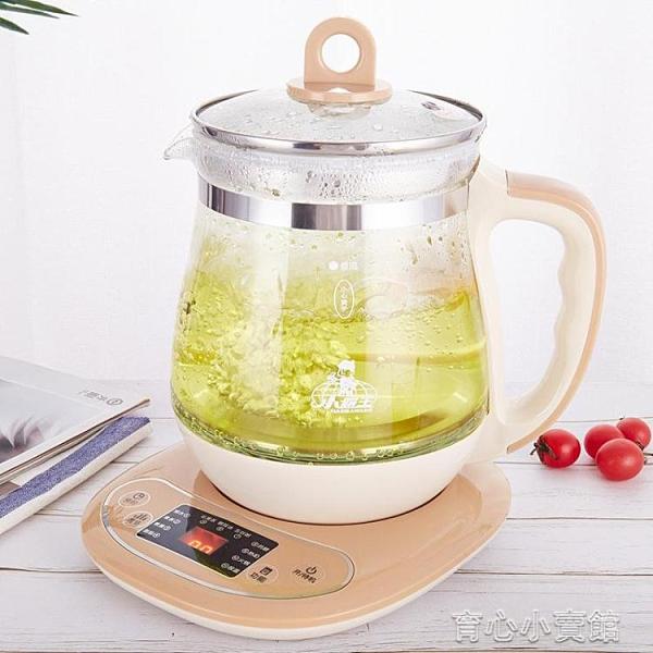 燒水壺 智慧養生壺家用多功能花茶煎藥壺高硼硅玻璃燒水壺一體壺 新年特惠