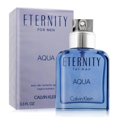 Calvin Klein CK Eternity AQUA 永恆之水男性淡香水100ml EDT-國際航空版