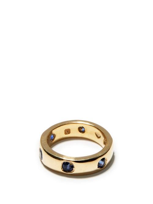 Bleue Burnham - Lovers Sapphire & Recycled 9kt Gold Ring - Mens - Blue