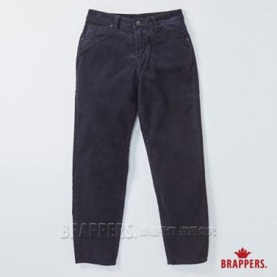 BRAPPERS 女款 Boy friend系列-中高腰條絨直筒褲-深藍