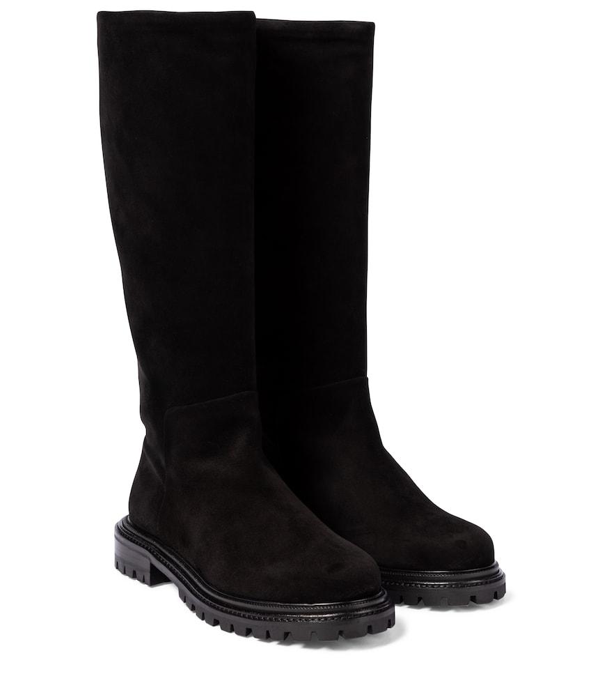 Sky suede knee-high boots