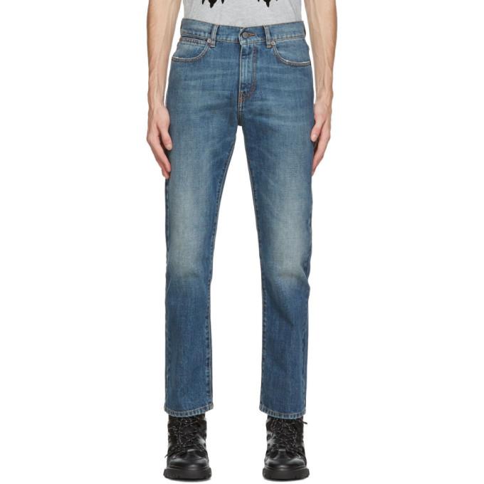 MCQ 蓝色水洗牛仔裤
