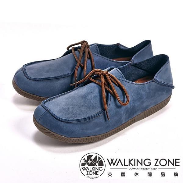 【南紡購物中心】【WALKING ZONE】可踩式雙穿休閒女鞋-藍(另有紅、棕)