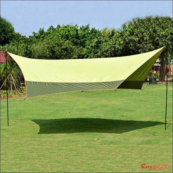 天幕 帳篷戶外多人遮陽棚20平防曬涼棚沙灘防雨天幕T