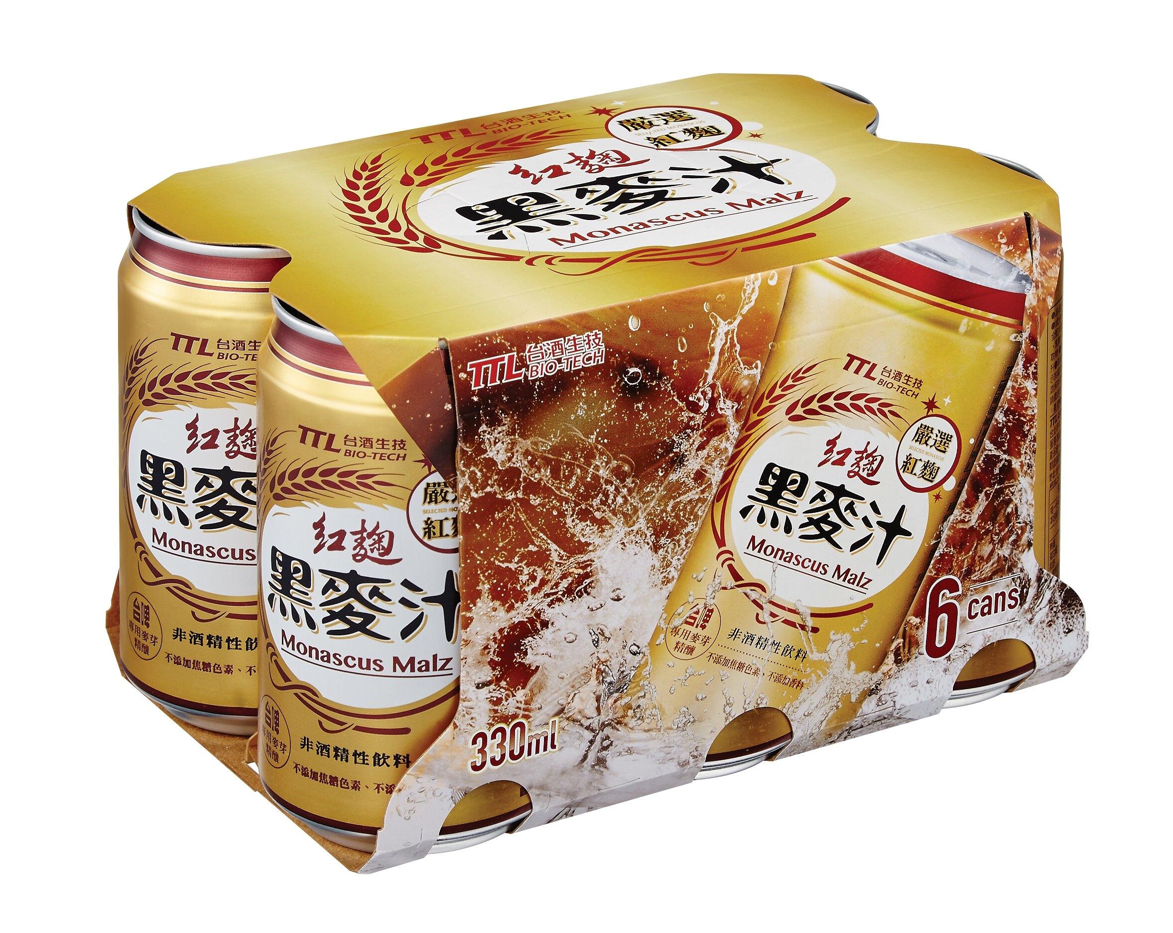 【台酒TTL】台酒紅麴黑麥汁(全素)