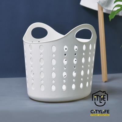 【新加坡CITYLIFE】奈米抗菌PP手提式洗衣籃-22.4L