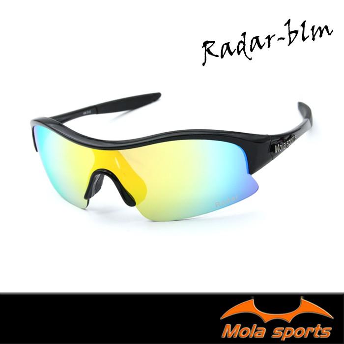 Mola摩拉運動太陽眼鏡 彩色多層膜鏡片-Radar_blm 自行車/高爾夫/跑步 小臉男女