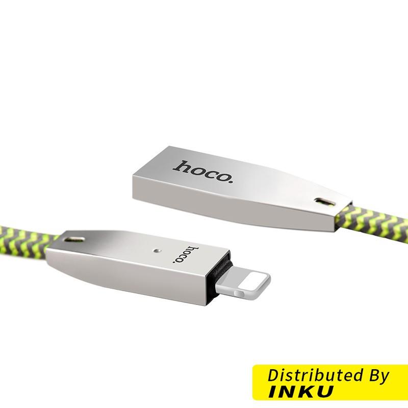 HOCO U11 鋁合金 反光編織 傳輸線 iPhone lightning 充電線 數據線 手機 蘋果[現貨]