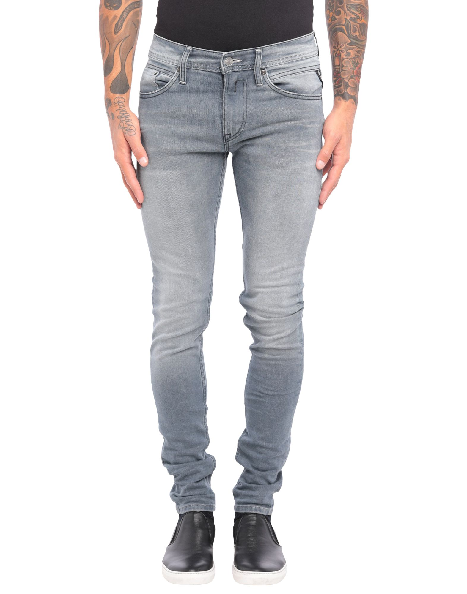 REPLAY Denim pants - Item 42812378