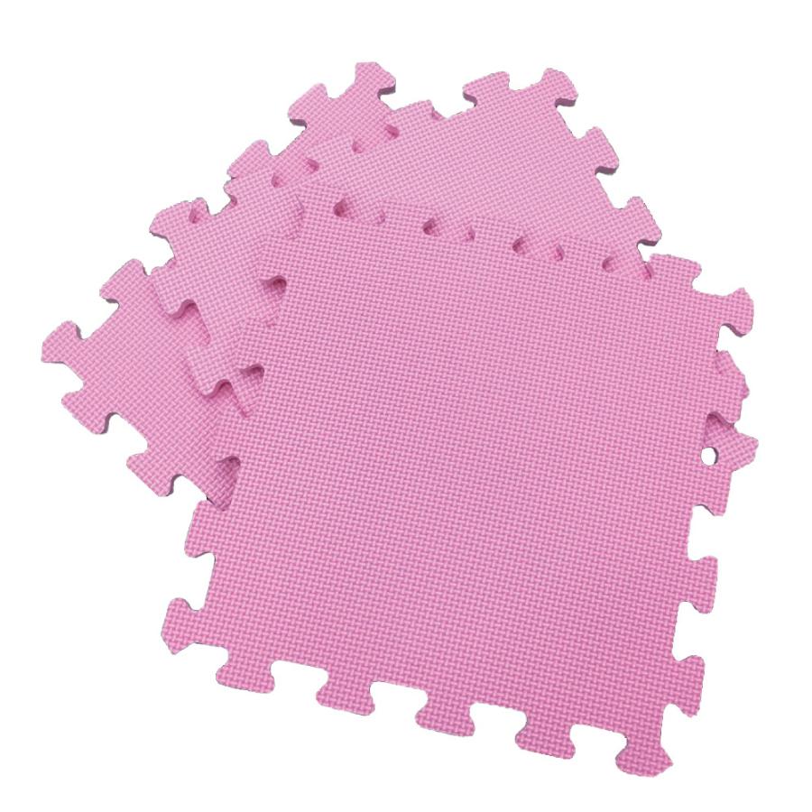 PMU熊寶貝 素色舒柔墊9入-粉紅
