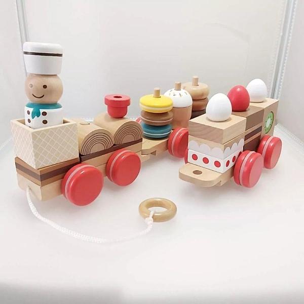 【南紡購物中心】【GCT玩具嚴選】日本木製甜點小火車