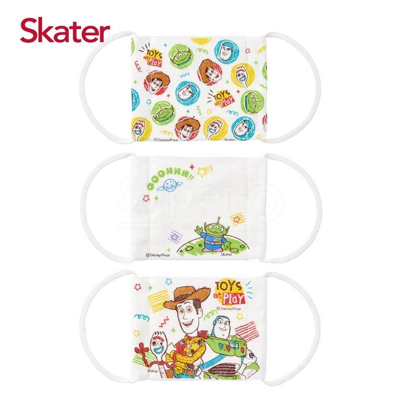 Skater 兒童紗布口罩(3枚/包)-玩具總動員(3-10歲適用)★愛兒麗婦幼用品★