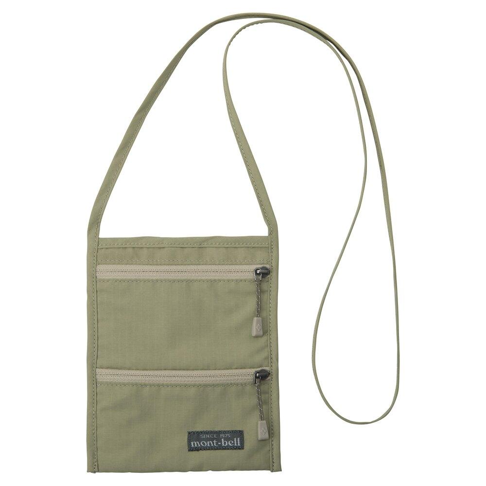 【【蘋果戶外】】mont-bell 1133108 LTKH 卡其【護照套】PASSPORT POUCH 頸掛旅行證件袋 隨身包防盜