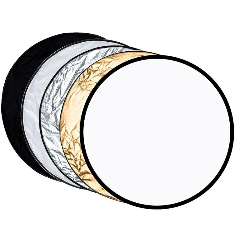 【現貨】反光板 反光板攝影打光板折疊便攜110cm五合一柔光板拍照補光板直播間閃光燈拍攝遮光板照相 快速出貨