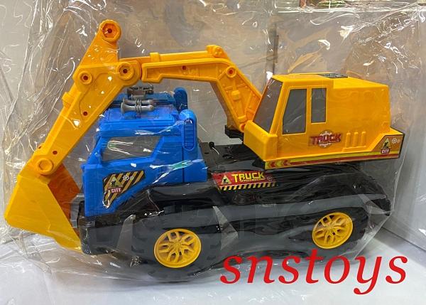 sns 古早味 懷舊童玩 玩具 工程車 挖土機 50x20公分
