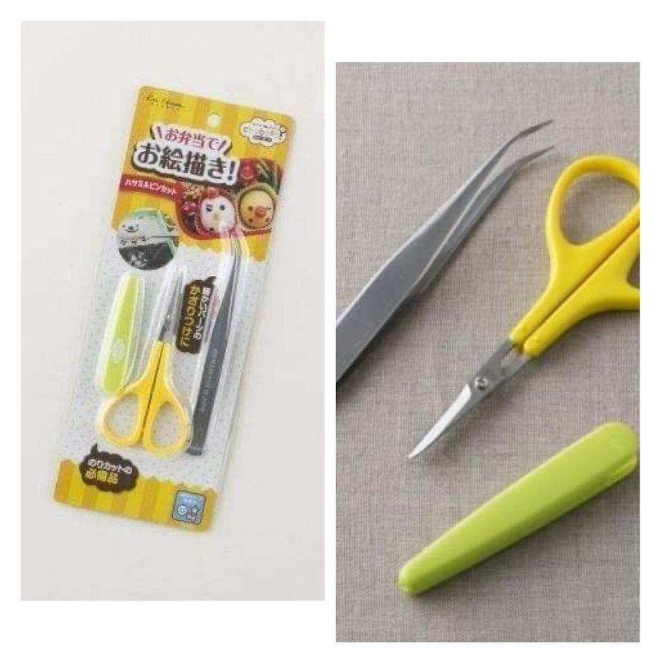 日本製 kai 手做便當造型裝飾夾+料理小剪刀 海苔裝飾夾 輔助造型工具
