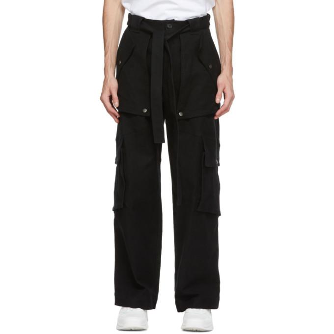 Kenzo 黑色大廓形工装裤