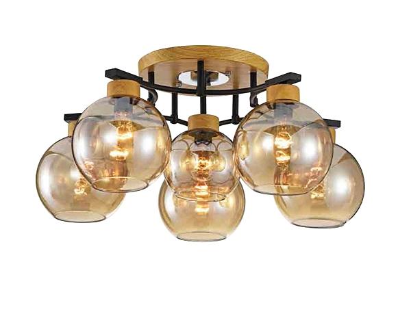 【燈王的店】北歐風 半吸頂5+1燈 客廳燈 餐廳燈 吧檯燈 301-98206-2
