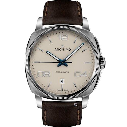 Anonimo EPURATO義式經典機械腕錶-奶油白/42mm AM400001310W42