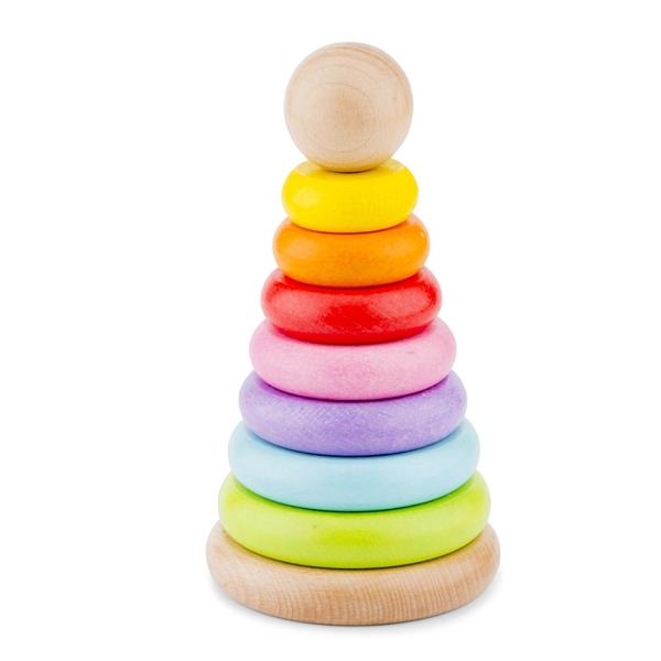 《 荷蘭 New Classic Toys 》幼幼彩色幾何疊疊樂 / JOYBUS玩具百貨