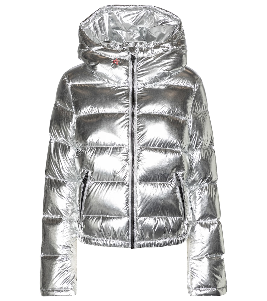 Polar Flare metallic down ski jacket